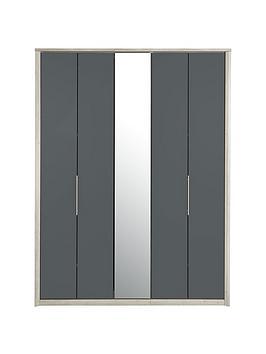 consort-jupiter-5-door-mirrored-bi-fold-wardrobe