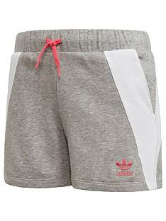 adidas-originals-girls-short-medium-grey-heathernbsp