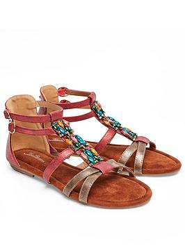joe-browns-gladiator-sandals-red