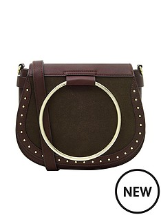 accessorize-accessorize-metal-ring-bergundy-saddle-bag