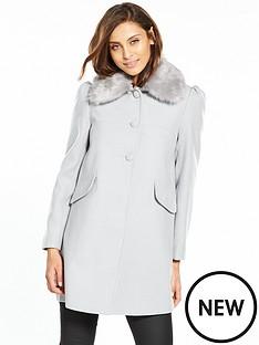 miss-selfridge-faux-fur-trim-dolly-coat