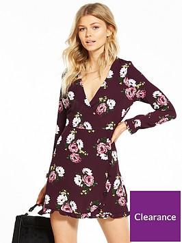 miss-selfridge-petite-floral-print-tea-dress