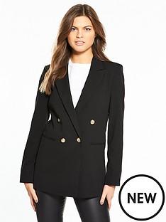 miss-selfridge-longline-military-jacket