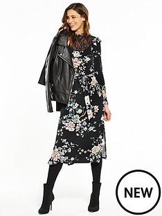 v-by-very-high-neck-lace-printed-midi-dress