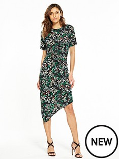 v-by-very-asymmetricnbsphem-ruched-midi-dress