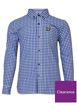 lyle-scott-boys-gingham-check-shirt