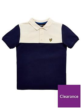 lyle-scott-boys-yoke-polo-shirt
