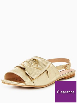 lost-ink-wide-fit-eyelet-bow-flat-sandal
