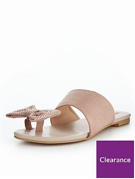 lost-ink-bow-toe-post-sandal-nudenbsp