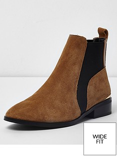 river-island-river-island-wide-fit-suede-chelsea-ankle-boot--tan