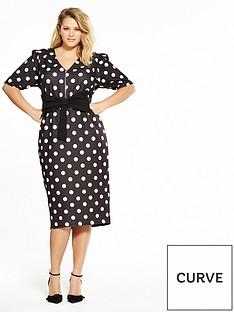 v-by-very-curve-spot-bow-bodycon-dress-monochrome