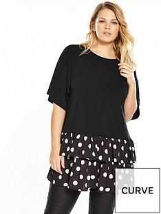 v-by-very-curve-polka-dot-woven-hem-jersey-top