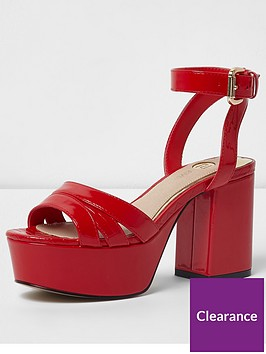 river-island-pu-red-platform-block-heel