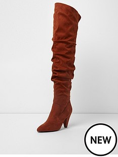 river-island-river-island-over-the-knee-suede-slouch-boot--dark-orange