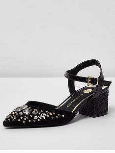 river-island-river-island-embellished-pointed-block-heel-sandal--black