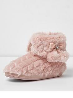 river-island-pom-pom-slipper-boot-pink