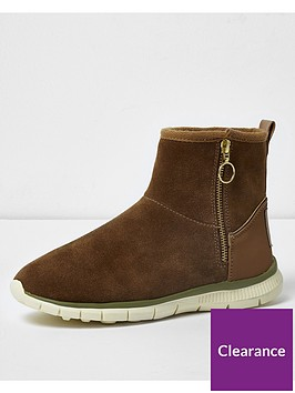 river-island-river-island-tan-suede-side-zip-casual-boot