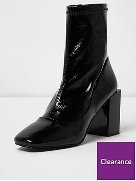 river-island-river-island-block-heel-patent-boot--black
