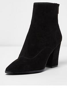 river-island-river-island-point-toe-heeled-ankle-boot--black