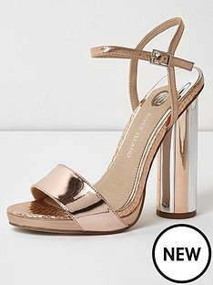 river-island-river-island-metallic-round-heel-sandals--rose-gold