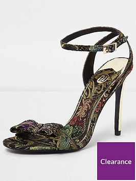 river-island-river-island-floral-jacquard-bow-barely-there-sandal--gold