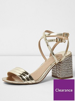 river-island-river-island-metallic-diamante-block-heel-sandal--gold