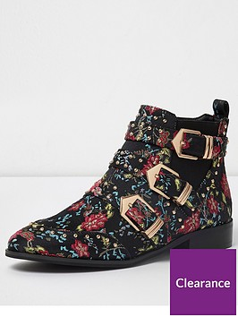 river-island-river-island-floral-studded-multi-buckle-ankle-boots--multi