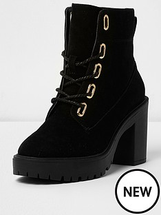 river-island-river-island-chunky-heeled-lace-up-boot--black