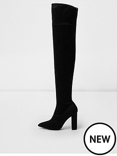 river-island-river-island-wide-fit-over-the-knee-boot--black