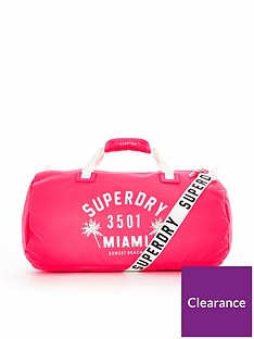 superdry-oletanbspbarrel-bag--nbspneon-pink