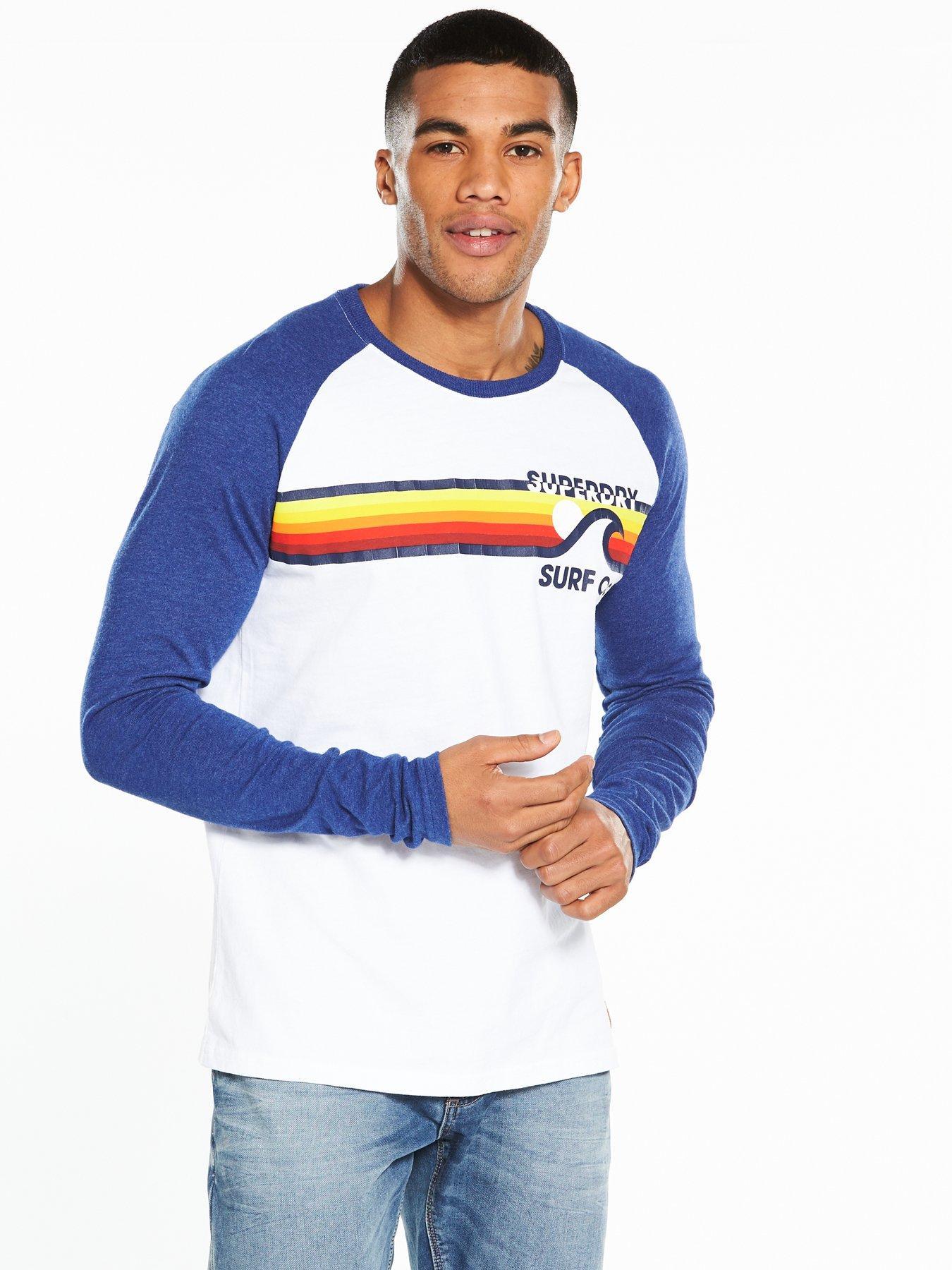 Superdry Surf Co Stripe Raglan L/s Tee