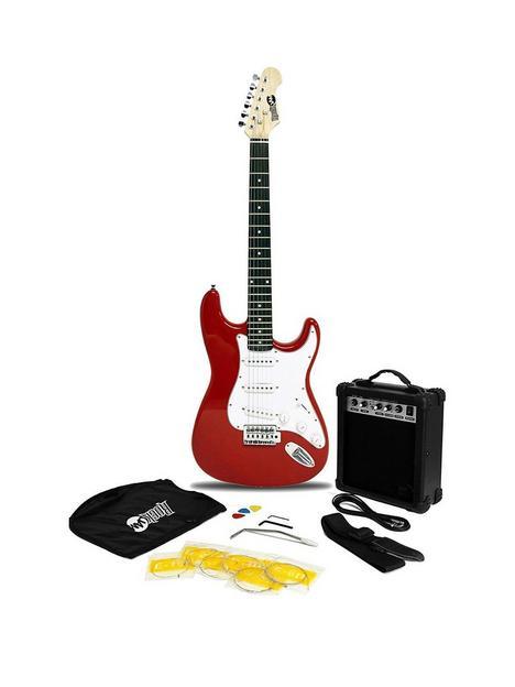 rockjam-electric-guitar-superkit-red