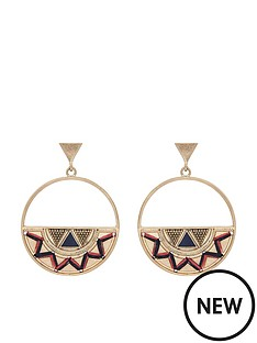 accessorize-zig-zag-threaded-hoops