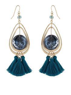 accessorize-statement-stone-tassel-earrings