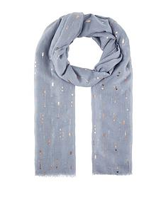 accessorize-cupids-arrow-foil-scarf-grey