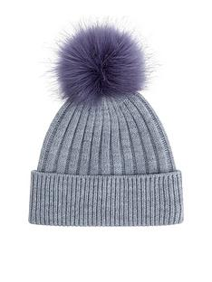 accessorize-contrast-faux-furnbsppom-beanie-hat