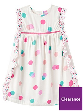 joules-baby-girlsnbspgertie-woven-frill-dress-cream-multinbspspot
