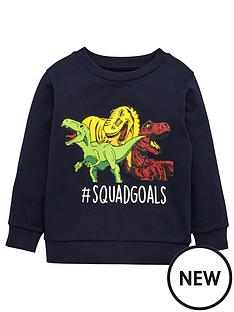 mini-v-by-very-boys-dinosaur-sweater-navy