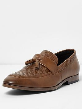 river-island-tufnell-texture-loafer-tan