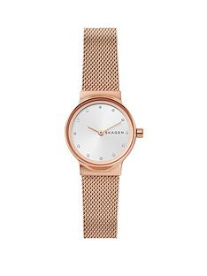 skagen-skagen-feja-rose-gold-stainless-steel-mesh-bracelet-ladies-watch