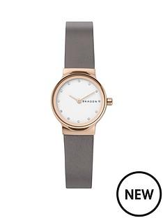 skagen-skagen-feja-rose-gold-stainless-steel-grey-leather-strap-ladies-watch