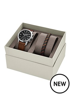 fossil-fossil-townsman-leather-strap-mens-watch-and-leather-wrap-bracelet-gift-set