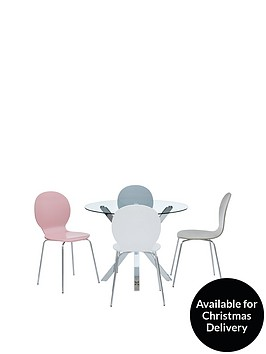chopstick-100cm-round-glass-table-4-roma-chairs-arrives-in-one-delivery