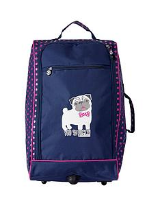 90305ad6a5 David   Goliath You So Pugly 2-Wheel Trolley Case