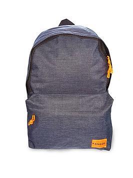 kangol-navy-marl-backpack