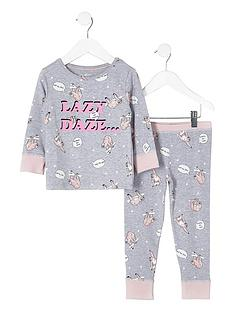 river-island-mini-girls-grey-039lazy-daze039-print-pyjama-set