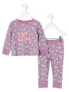 river-island-mini-girls-purple-lsquonap-queenrsquo-pyjama-set