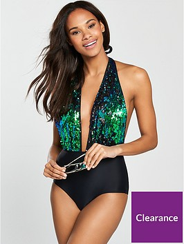 south-beach-nostalgia-teal-sequin-detail-plunge-swimsuit-blackteal