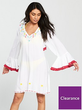 south-beach-embroidered-open-back-detail-beach-dress-with-tassel-trim-white