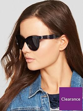 tommy-hilfiger-cateye-striped-arm-sunglasses-blue